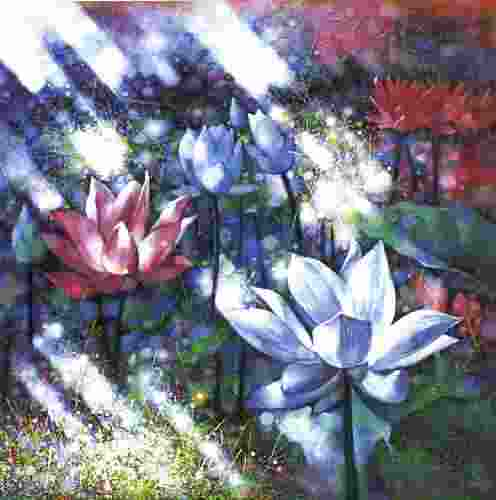 white lotus36x36in